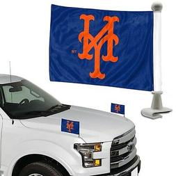 New York Mets 2-Pack Ambassador Style Auto Flag Car Banner S