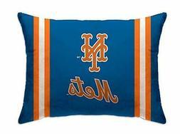"Pegasus New York Mets 20"" x 26"" Plush Bed Pillow  Blue"