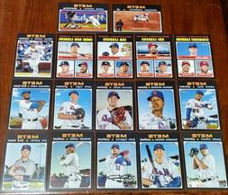 NEW YORK METS 2020 TOPPS HERITAGE TEAM SET- CANO CONFORTO NI