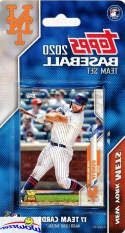New York Mets 2020 Topps Limited Edition 17 Card Team Set-Pe