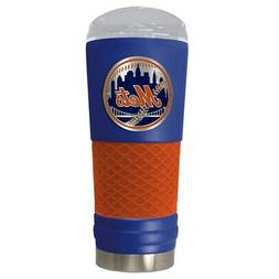 NEW YORK METS 24 OZ. STAINLESS STEEL VACUUM INSULATED TRAVEL
