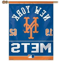 "NEW YORK METS 27""x37"" BANNER/FLAG NEW & OFFICIALLY LICENSED"