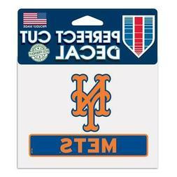 "New York Mets 4""x5"" Perfect Cut Car Decal  MLB Auto Sticker"