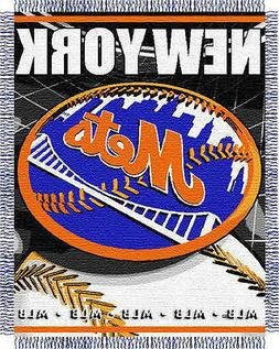 "New York Mets 48""x 60"" Triple Woven Jacquard Knit Throw Blan"