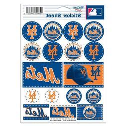 "NEW YORK METS 5""x7"" LOGO STICKER SHEET BRAND NEW WINCRAFT"