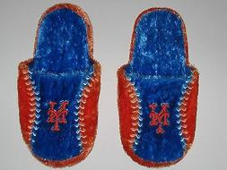 New York Mets Adult Size Fuzzy Non-Skid Himo Style Plush Sli