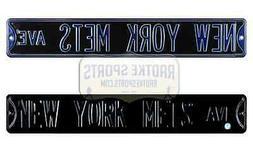 New York Mets Avenue MLB Licensed Authentic Steel 36x6 Blue