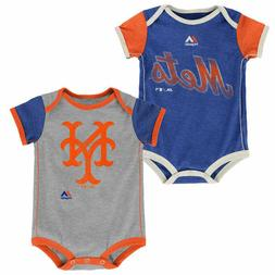 New York Mets Baby 2pc Creeper Set Vintage Bodysuit Clothes