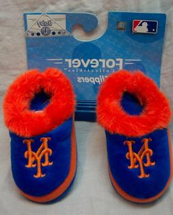 """NEW YORK METS Baseball BABY SLIPPERS Size LARGE 5"""" NEW"""