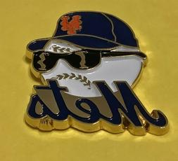 NEW YORK METS BASEBALL HEAD WITH CAP AND COOL SHADES VINTAGE