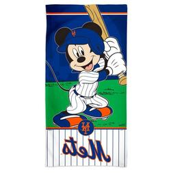 "NEW YORK METS BASEBALL MICKEY MOUSE 30""X60"" SPECTRA BEACH TO"