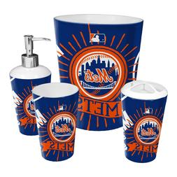 New York Mets Bath Set 4-Piece OFFICIAL MLB