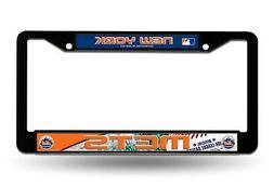 New York Mets BLACK Plastic LBL License Plate Frame Tag Cove