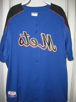 Majestic New York Mets Blank Performance Apparel Jersey Size
