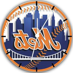 New York Mets Frameless Borderless Wall Clock Nice For Gifts