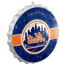 New York Mets Bottle Cap Wall Sign - Distressed - Room Bar D