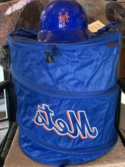 NEW YORK METS COLLAPSIBLE 3-IN-1 TRASH CAN COOLER + 1969 HEL
