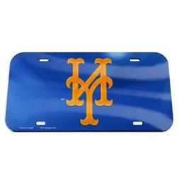 NEW YORK METS CRYSTAL MIRRORED CAR LICENSE PLATE SHARP!