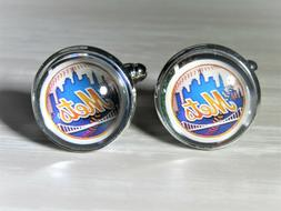 New York Mets Cuff Links made from Baseball Trading Cards