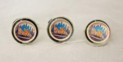 New York Mets Cufflinks and Tie Tack Set Upcycled from MLB C