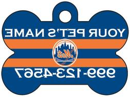New York Mets Custom Pet Id Dog Tag Personalized w/ Name & N