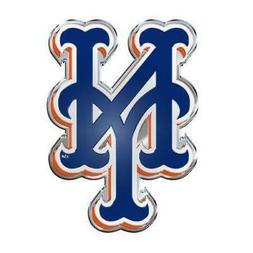 New York Mets Die Cut Metal Auto Emblem  MLB Car Truck Decal