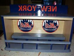 New York Mets display case for bobbleheads  Dugout style  Re