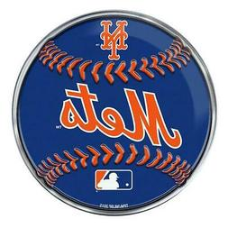 New York Mets Emblem Sticker Raised 3D Metal Auto Baseball E