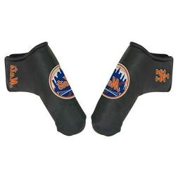 NEW YORK METS EMBROIDERED LOGO BLACK BLADE PUTTER COVER NEW