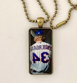 New York Mets Glass Pendant Necklace--Syndergaard--Free Ship