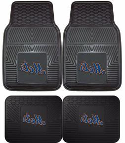 New York Mets Heavy Duty MLB Floor Mats 2 & 4 pc Sets for Ca