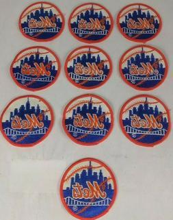 New York Mets Home Round Sleeve Patch Orange Border Logo MLB