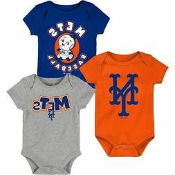 New York Mets Infant Everyday Fan Three-Pack Bodysuit Set -