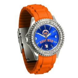 """New York Mets Ladies """"Sparkle"""" Watch for the wrist"""