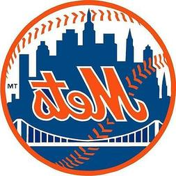 New York Mets Decal 5 inch Round Window Bumper Sticker indoo