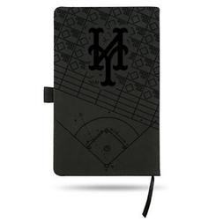 New York Mets Laser Engraved Small Notepad - Black