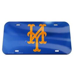 New York Mets License Plate Mirrored Acrylic Blue