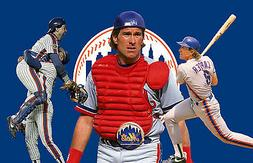 New York Mets Lithograph print of  Gary Carter 17 x 11