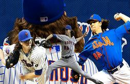 New York Mets Lithograph print of  Jacob deGrom 17 x 11