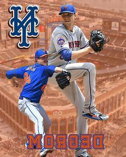 New York Mets Lithograph print of Jacob deGrom  2020 Cit ban