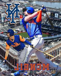 New York Mets Lithograph print of Jeff Mcneil  2020