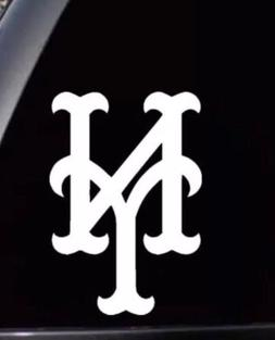 new york mets logo car window man