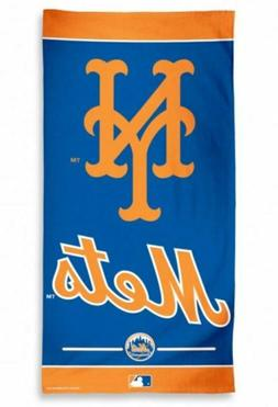 "New York Mets Logo Fiber Beach Towel 9lb 30"" x 60"" MLB"