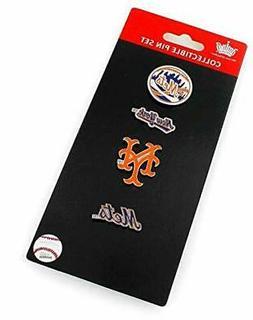 New York Mets Logo MLB Baseball Evolution 4 Piece Lapel Pin