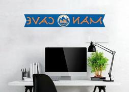 New York Mets Logo Wall Decal MLB Baseball Team Man Cave Hom