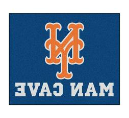 New York Mets Man Cave 5' X 6' Tailgater Area Rug Floor Mat