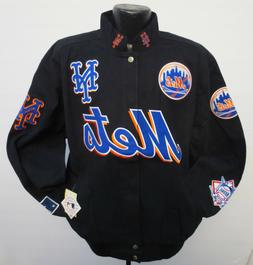 NEW YORK METS MENS ADULT JACKET BY GIII G3 COTTON TWILL BASE