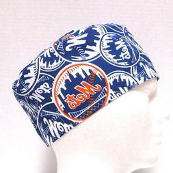 New York Mets Mens Scrub Hat, Surgical Cap, Skull Cap, Chemo