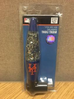 New York Mets Metal Sparkling Motion Night Light Bedroom Lav