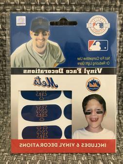 New York Mets MLB 6 Pack Eye Black Strips Vinyl Face Decorat